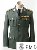 World War II German M37 Officer's Uniform, WSS suit,